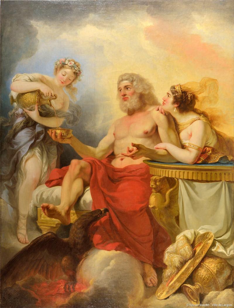 Jupiter et Junon recevant le nectar d'Hébé